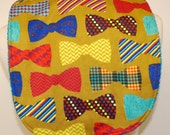 Youth/Junior Boy Bib, Special Needs, Cerebral Palsy,14-inch neck opening: Colorful Bow Ties