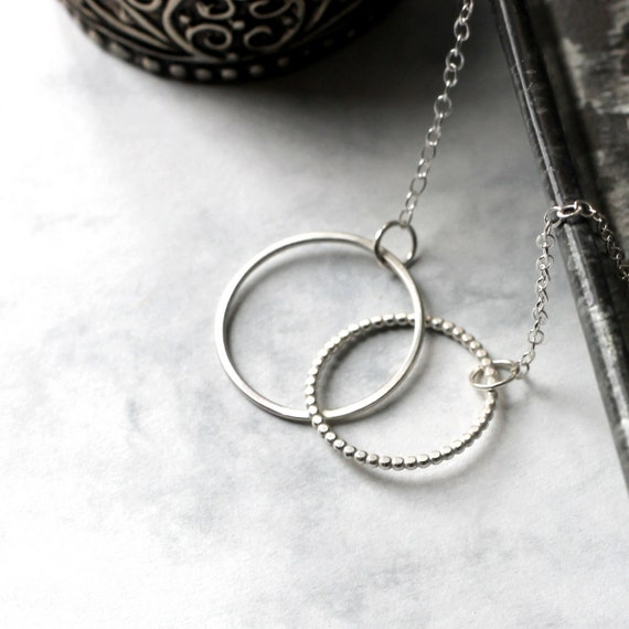 Linked Circle Necklace - Sterling Silver