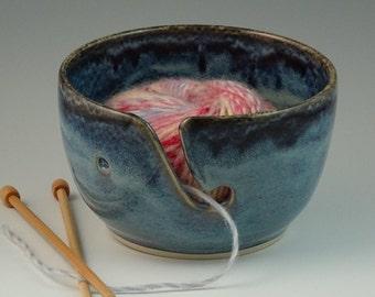 Yarn Bowl in 2 Shades of Blue