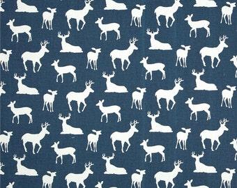 Navy blue deer valance blue valance blue window decor