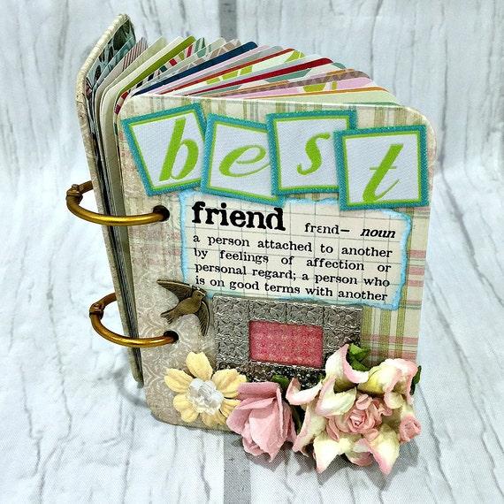 BEST FRIEND A-Z Friendship Scrapbook Photo Mini Album ATC A To
