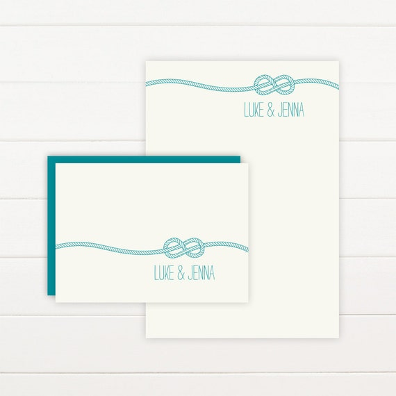 KNOT Personalized Stationery + Notepad Set, Personalized Notepad and Personalized Stationary