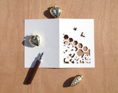 Bee Garden Papercut Greeting Card
