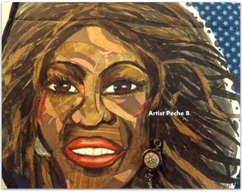 First Lady MICHELLE OBAMA FLOTUS Art Quilt