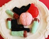 Zombie Apocalypse Soap Kit - Zombies, Gun, Brain, Green Apple, Black Cherry, Walking Dead, Fingers, Blood, Gift Set, Prank Soap, Human Heart