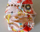 One Size Circus Velour Fitted Cloth Diaper