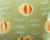Maine Cottage May Flower indoor outdoor fabric / pickle green outdoor fabric / fabric yardage / fabric remnant / indoor outdoor material