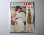 Jeanne Lanvin Vogue Paris Original Pattern 2160 Designer Misses One Piece Dress Vintage Size 8 Bust 31 1/2 Waist 23