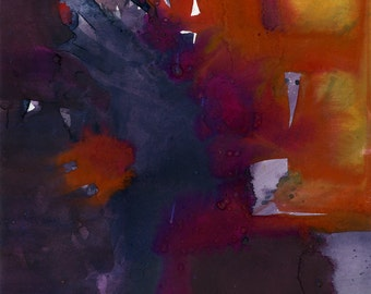 Introspection No.4 ... Original Abstract Watercolor painting by Kathy Morton Stanion EBSQ