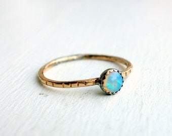 Handmade Opal Stacking Ring