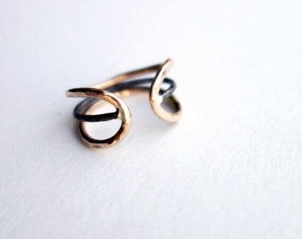 Two Toned Wingding Ring