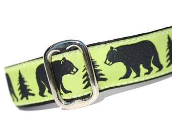 "1"" Dog Collar Black Bear - Choose Your Collar Style!"