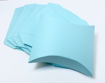 Pillow Boxes - Blue Pillow Boxes - Large Pillow Boxes - Light Blue Pillow Boxes - Light Blue Boxes - Wedding Favor Boxes - Baby Shower Boxes