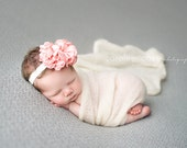 Newborn girl photo prop All Things ribbon Flower Bow headband Children's photo props