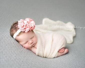 Newborn girl photo prop All Things ribbon Flower Bow headband Children's photo props