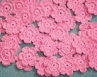36 cotton thread crochet applique flowers  french rose --  2494