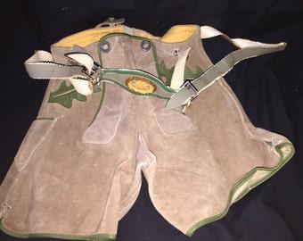 Vintage Suede Swiss Boy's Shorts