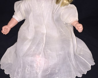 Madeira Girl's White Cotton Dress