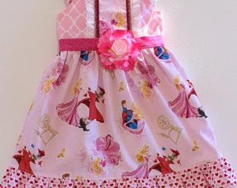 Sleeping Beauty dress, princess dress, aurora dress,  girls dress, boutique dress, toddler dress, birthday dress
