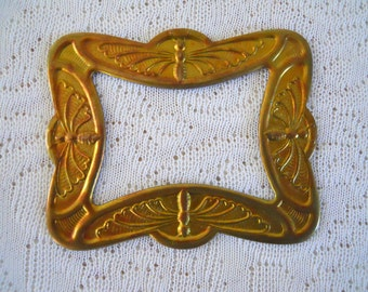 Vintage Brass Butterfly Frame Stamping