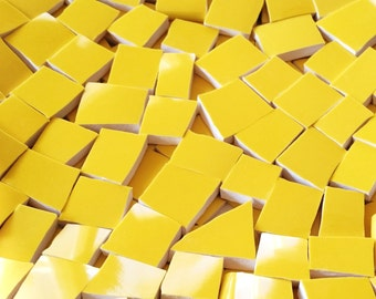 Mosaic Tiles--Yellow Sunshine-50 Tiles