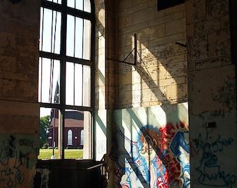 Michigan Central Station - Detroit, MI - matted photograph