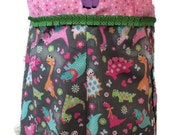 Girls Romper Outfit in Dinosaur Fabric size 3T