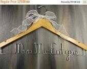 SALE 20% OFF Last Name Hangers Custom Name Hangers Bridal Hangers Bridal Accessories Wedding Dress Hangers Personalized Hangers