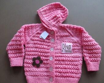 Handmade Baby Girl Sweater Pink