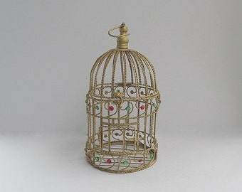 Vintage Birdcage, Metal Wire Birdcage, Shabby Cottage Chic Décor, Old Bird Cage, Garden Porch Patio Decoration