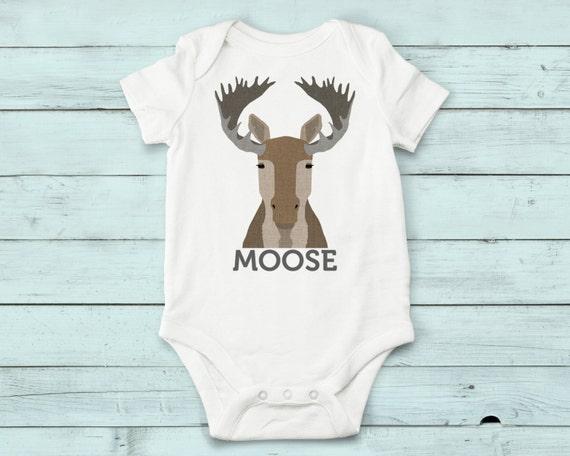 Moose - onesie, baby girl, baby boy, baby gift, baby girl clothes, baby boy clothes, baby onesie, moose, cute onesies, infant bodysuit, baby