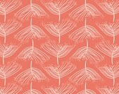 Laced Sunset - Forest Floor - Art Gallery Fabrics - Bonnie Christine - FOR-47705 - Coral Trees Leaves Forest
