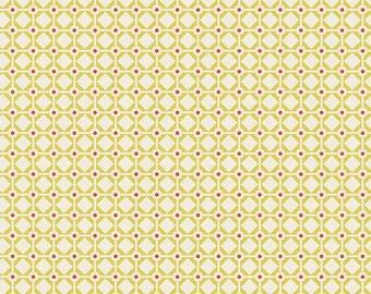 Garden Gate Citron - Sweet as Honey - Art Gallery Fabrics - Bonnie Christine - SAH-2606 - Bees Hive