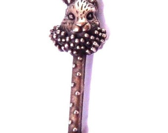 Rabbit skeleton key Alice in Wonderland pendant charms antiqued bronze  metal    (k9)   quantity 1 jewelry supplies findings