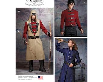 Simplicity 8235 Arkivestry Gothic Men's Jackets Ren Faire Archery Jacket  Size 38-44