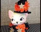 Halloween Decoration Vintage Kitty Witch Halloween Ornament   TVAT