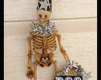 Halloween Decoration Silver Seleton  For Halloween Party Halloween Ornament