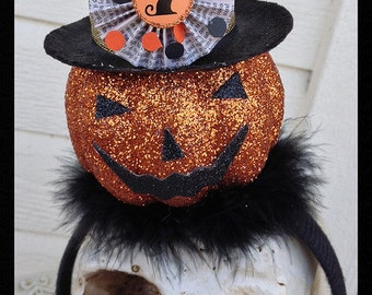 Halloween Decoration  Halloween Headband With Jack o Lantern  Ornament for Halloween party
