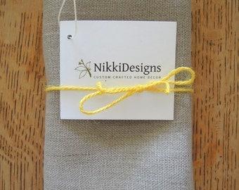 Pure Linen Oatmeal Tea Towel, Kitchen Linens, Hand Towel, Dishcloth, Ranchwood