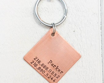 "Seeking personalized gifts for dogs and dog lovers? Our pet id tags are made in Bozeman, Montana. Large At Ease Pet Tag (1.25"")"