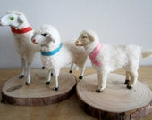 3 Vintage Matchstick Wooly Sheep Stick Legs - As Is