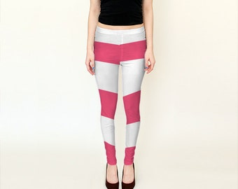 Taffyta Muttonfudge Inspired Pink Candy Stripe Cosplay Leggings
