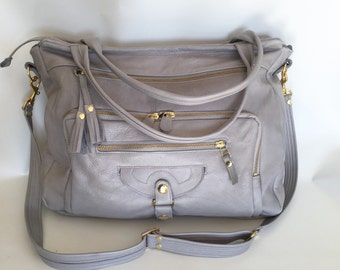 4 pocket Willow bag in cement grey - work bag - computer bag