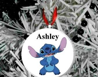 Personalized Stitch Standing - Lilo and Stitch Christmast Tree Pendant Ornament