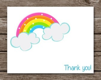 Rainbow Note Cards, Rainbow Notecards, Rainbow Cards, Rainbow Stationery, Personalized Note Cards