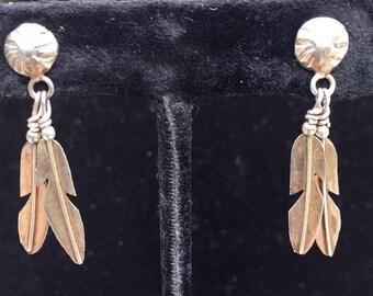 Sterling Silver Native American Earrings