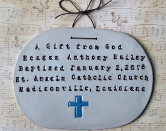 Personalized Cross Wall Hanging (Baptism)