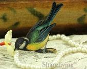 4pcs Wood Vintage Bird on Branch Charms / Pendants HW012C