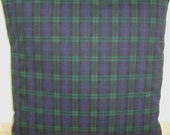 "Blackwatch Tartan Cushion Cover 24x24 Pillow Sham Black Green Blue Plaid Check 60cm Lumbar Case Slip Pillowcase 24"" Square Accent Throw"