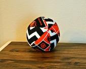 Fabric Ball - Baby Ball - Beavers - Chevron - Oregon State University